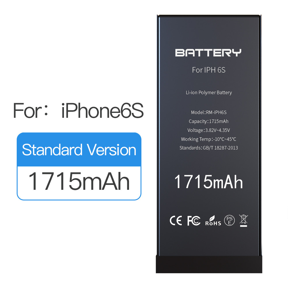 Original Capacity 1715mAh Apple Iphone 6s Battery 0 Cycle 800 Recycling Times